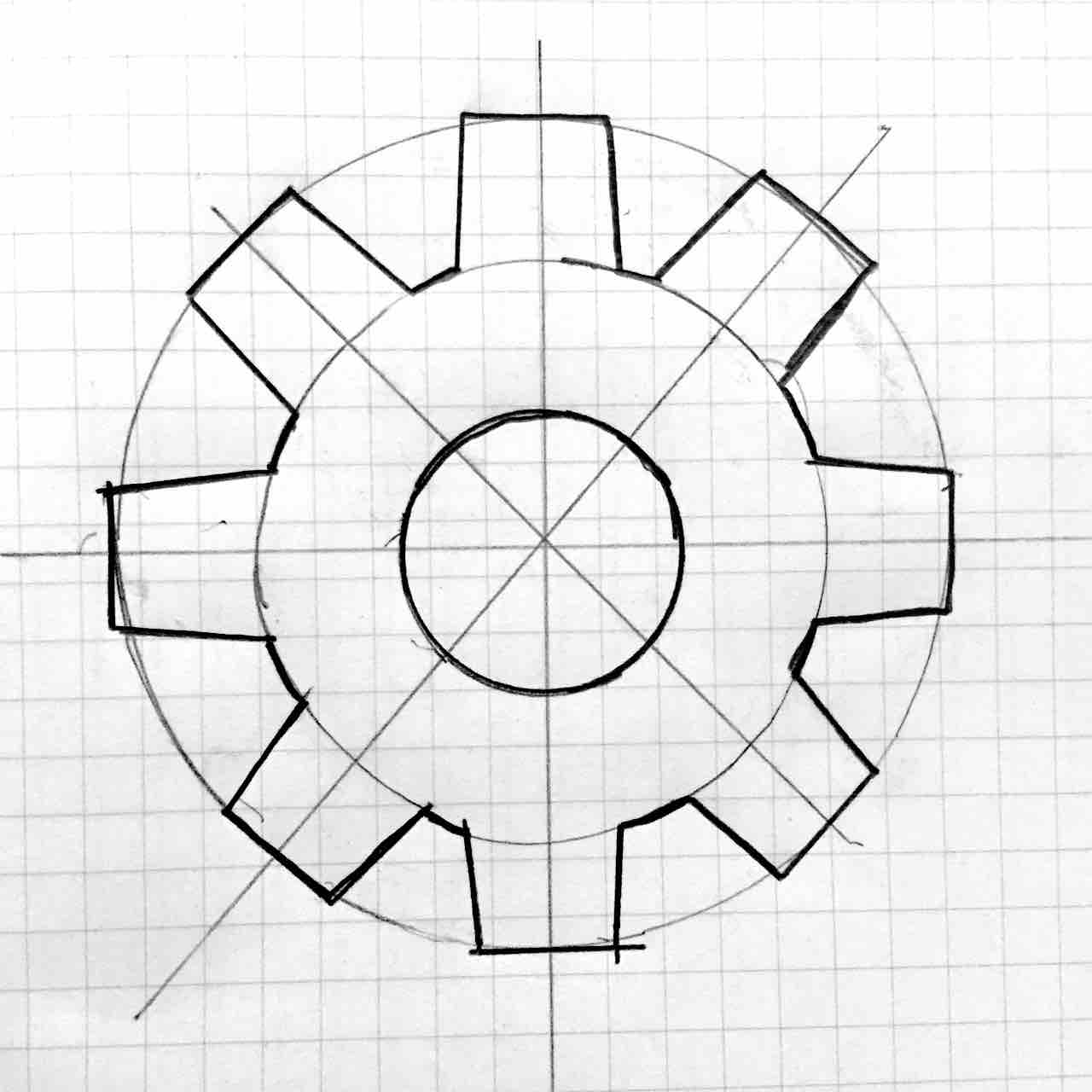Cog icon sketch