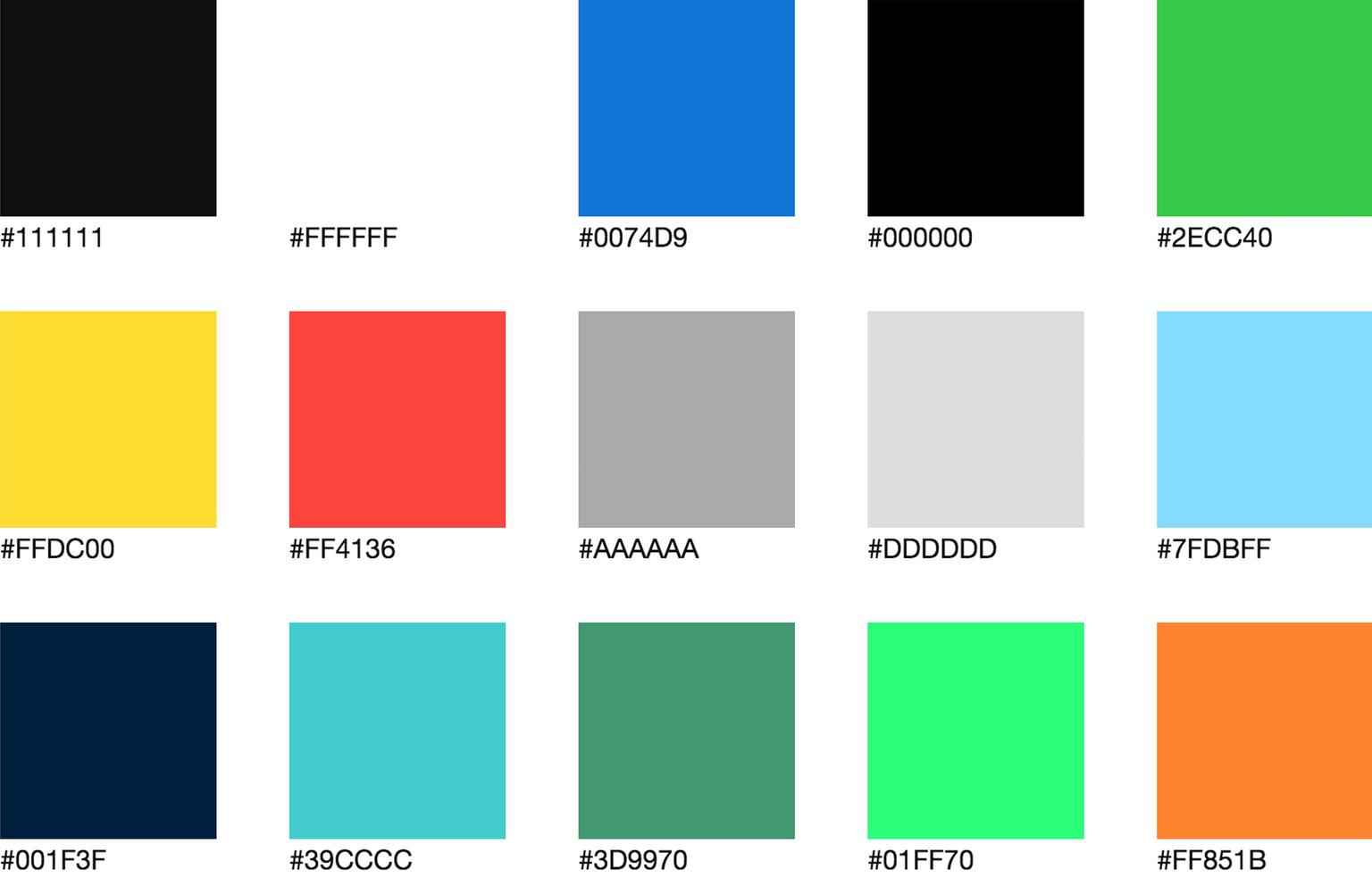 Collection of color palettes photoshop for ui designs web3canvas - Color Palette Documentation For Living Style Guides Writing